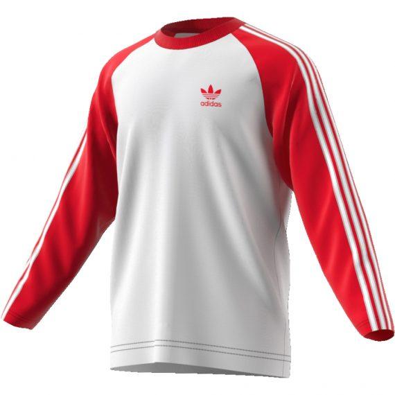 92013e31c3 T-Shirt Maglia Adidas Original Uomo - Maniche Lunghe 3 Striscie ...