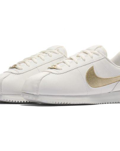 Scarpe Nike Cortez Basic SL GS Junior Bimba – Bianco Oro – 904764-105 f4098aa23fb6
