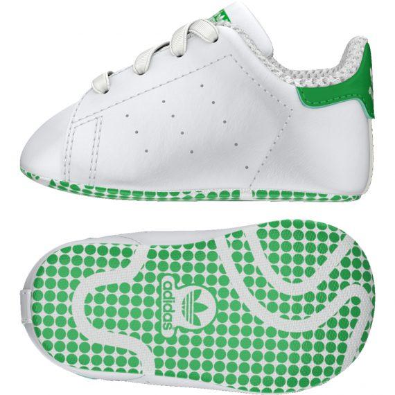 super popular da620 349c0 Scarpe Adidas Original Junior – Stan Smith – Bianco Verde – B24101