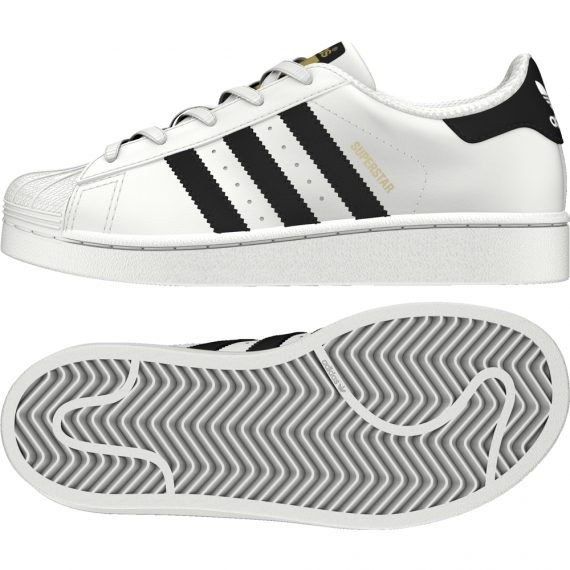 Scarpe Adidas Original Junior – Superstar – Bianco Nero – BA8378