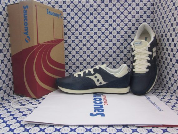 Scarpe Saucony Dxn Trainer Original Sneakers Uomo Blu Panna 7035801