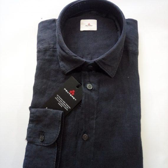 free shipping f3b18 32db4 Camicia Peuterey Uomo - Lino Taglio Slim Mugambi - Blu Navy - PEU2766