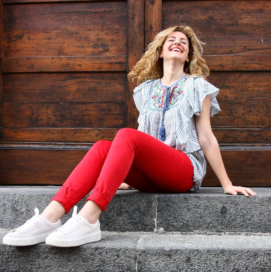 Pantaloni rossi ROYROGER'S, DERHY, PUMA