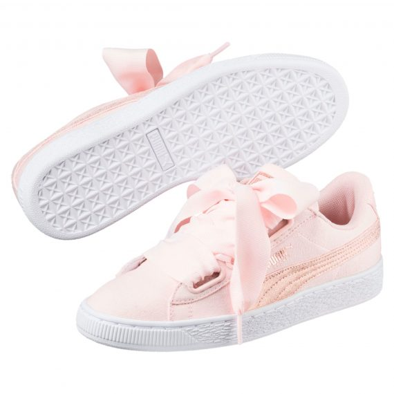Scarpe Puma Donna Basket Heart Canvas Rosa 366495